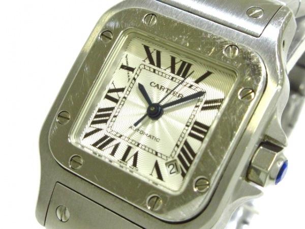 Cartier(カルティエ) 腕時計 サントスガルベSM W20054D6 レディース シルバー