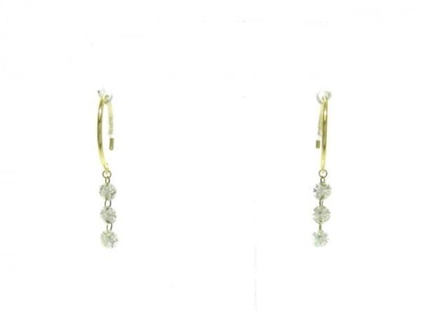 AHKAH(アーカー) ピアス美品  ベア K18YG×ダイヤモンド 6Pダイヤ約0.3カラット