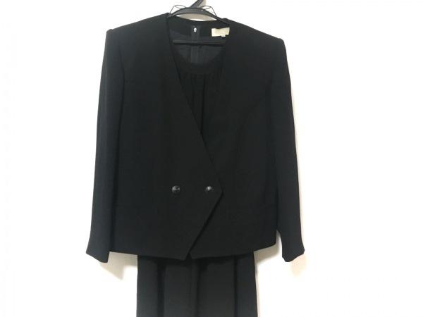 ラピーヌルージュ ワンピーススーツ サイズ13B2 レディース美品  黒 肩パッド