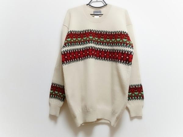 ヨウジヤマモト 長袖セーター サイズM メンズ美品  アイボリー×マルチ
