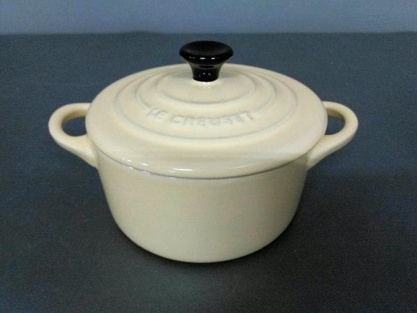 LE CREUSET(ルクルーゼ) 食器新品同様  アイボリー ココット 陶器