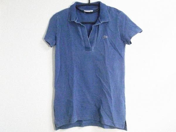 Lacoste(ラコステ) 半袖ポロシャツ サイズ36 S レディース美品  ネイビー
