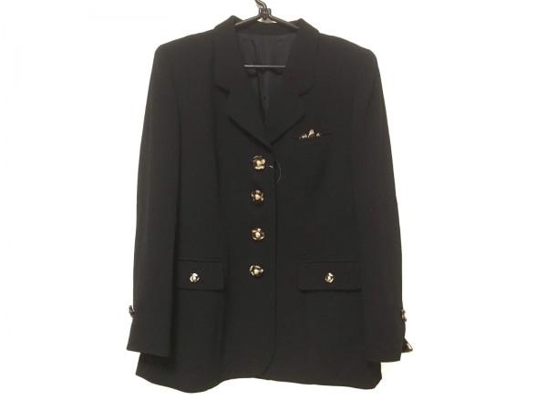 ギンザマギー ジャケット サイズ11 M レディース 黒×ベージュ×ダークブラウン