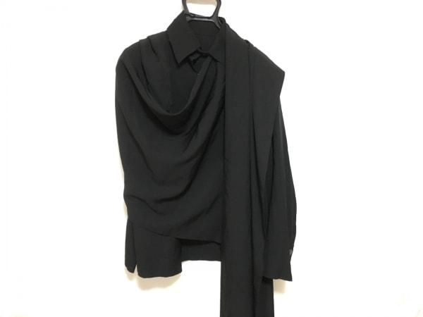 ヨウジヤマモト 長袖シャツブラウス サイズ1 S レディース美品  黒 変形デザイン