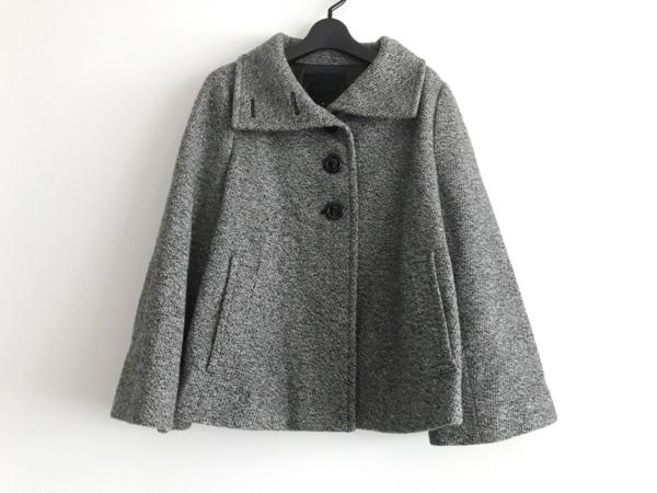 アンタイトル コート サイズ4 XL レディース美品  グレー×白×黒 冬物/ショート丈