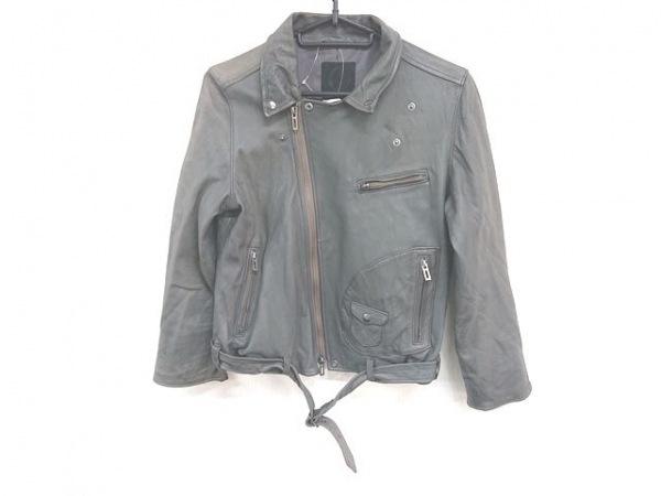 SAVIO(サビオ) ライダースジャケット サイズ38 M レディース カーキ