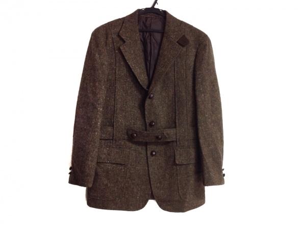 ジェイプレス コート サイズA5 メンズ ダークブラウン×レッド×マルチ 肩パッド/冬物