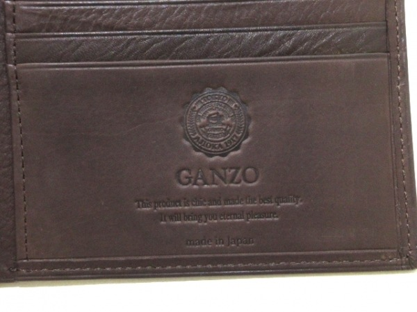 GANZO(ガンゾ) 札入れ美品  カーフディア2 58147 ダークブラウン レザー