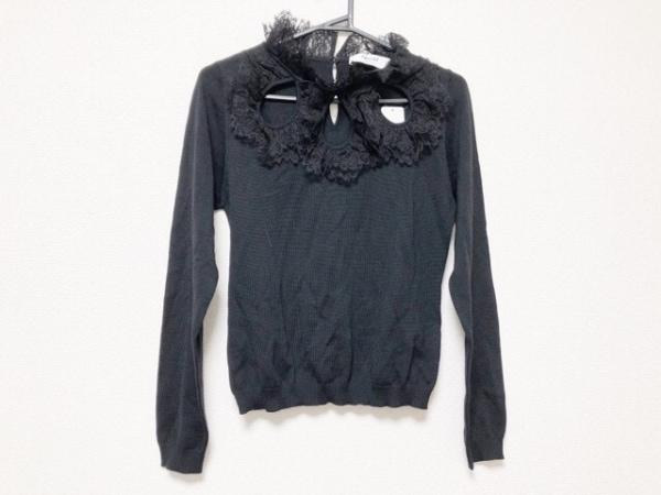 BLUGiRL BLUMARINE(ブルーガールブルマリン) 長袖セーター レディース美品  黒 レース
