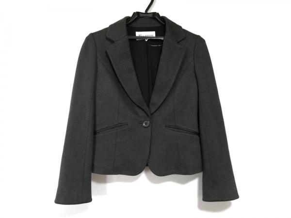 ジャスグリッティー ジャケット サイズ1 S レディース美品  ダークグレー