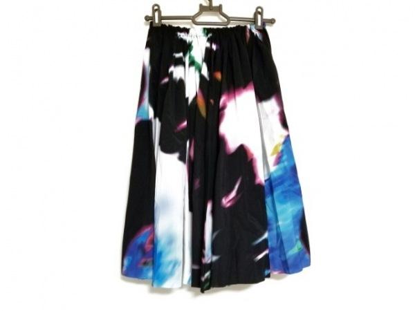 LIMI feu(リミフゥ) スカート サイズS レディース 黒×マルチ