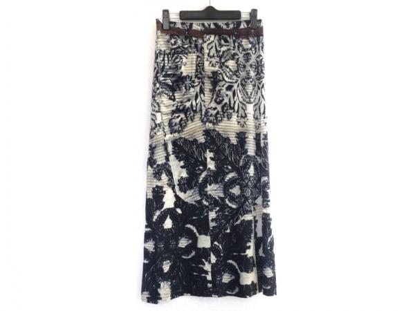 HaaT HeaRT(ハート) ロングスカート サイズ2 M レディース 白×マルチ