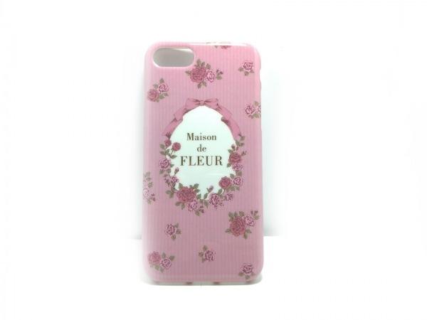 メゾンドフルール 携帯電話ケース美品  ピンク iPhoneケース/花柄 プラスチック