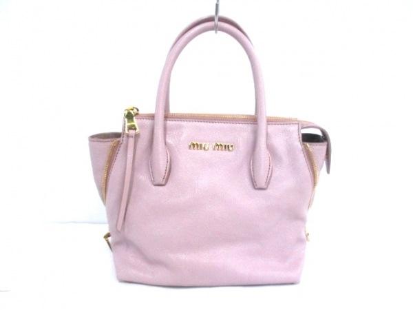 miumiu(ミュウミュウ) ハンドバッグ - 5BA003 ピンク レザー