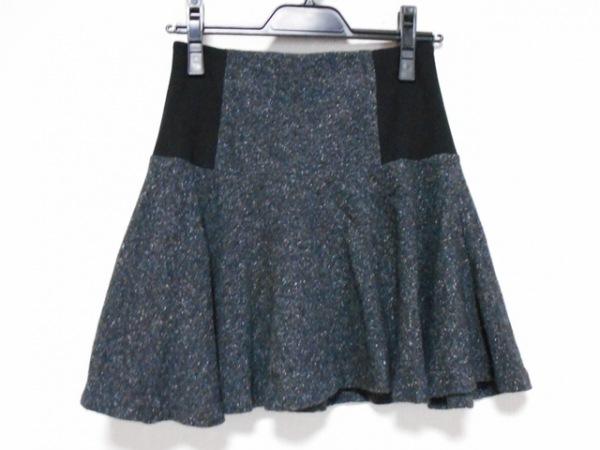 alice+olivia(アリスオリビア) スカート レディース美品  ダークグレー×黒×白