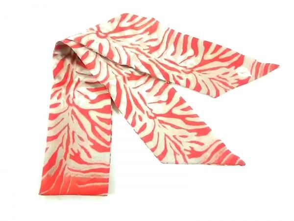 HELEN KAMINSKI(ヘレンカミンスキー) スカーフ美品  レッド×ベージュ×アイボリー