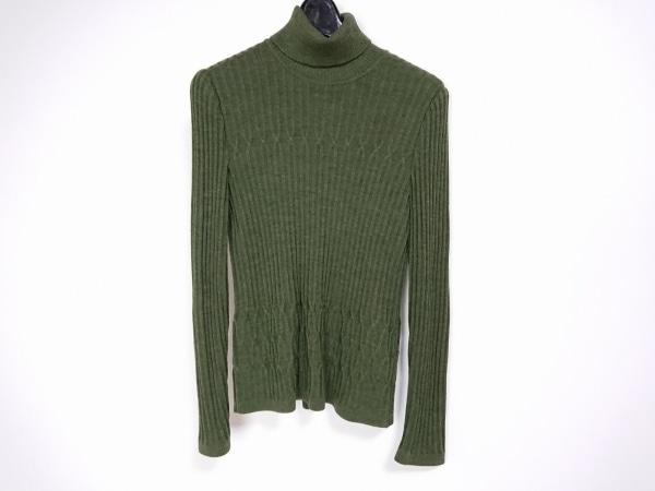 ロシャス 長袖セーター サイズ9 M レディース美品  ダークグリーン タートルネック