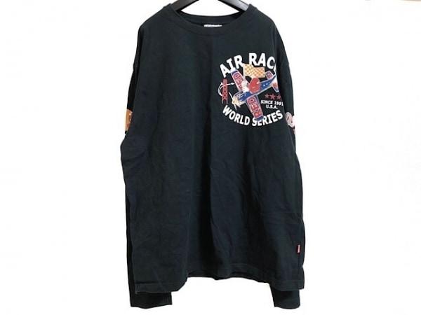 TEDMAN(テッドマン) 長袖Tシャツ サイズ46 XL メンズ 黒×レッド×マルチ