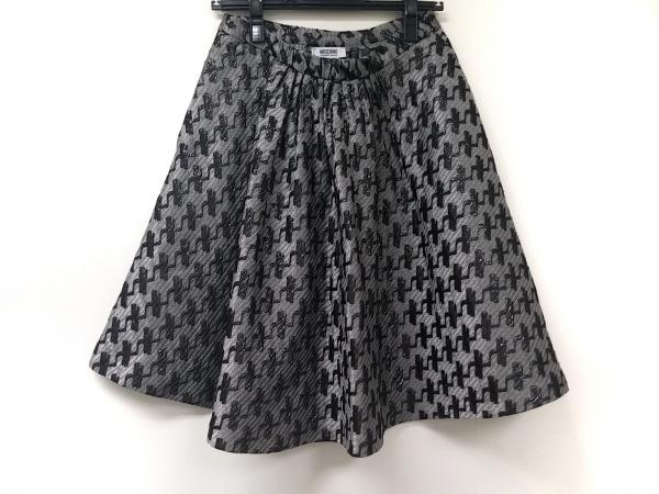 モスキーノ チープ&シック スカート サイズ38(I) S レディース グレー×黒 ラメ