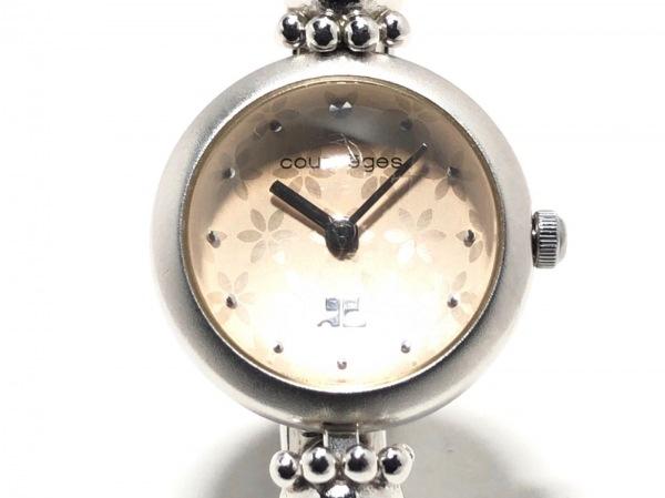 COURREGES(クレージュ) 腕時計 Y150-0040 レディース ピンク×シルバー
