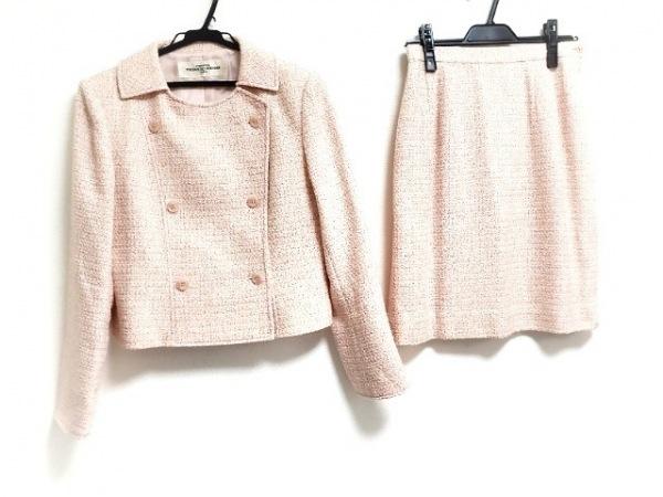 ユキサブロウワタナベ スカートスーツ サイズ38 M レディース ピンク×アイボリー