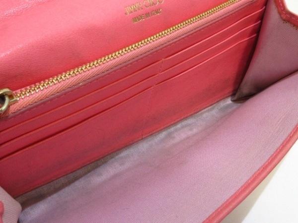 JIMMY CHOO(ジミーチュウ) 財布 フィリッパ ピンク×シルバー チェーンウォレット