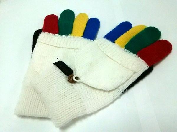 kansai(カンサイ) 手袋 レディース アイボリー×マルチ ウール