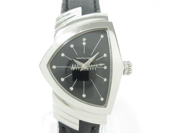 HAMILTON(ハミルトン) 腕時計 ベンチュラ H242111 レディース 革ベルト 黒