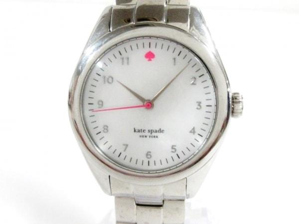 Kate spade(ケイト) 腕時計美品  - レディース シェル文字盤 ホワイトシェル