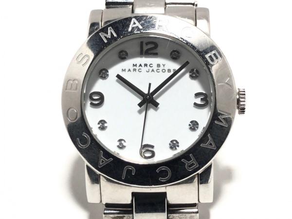 マークジェイコブス 腕時計美品  MBM3054 レディース ラインストーン 白