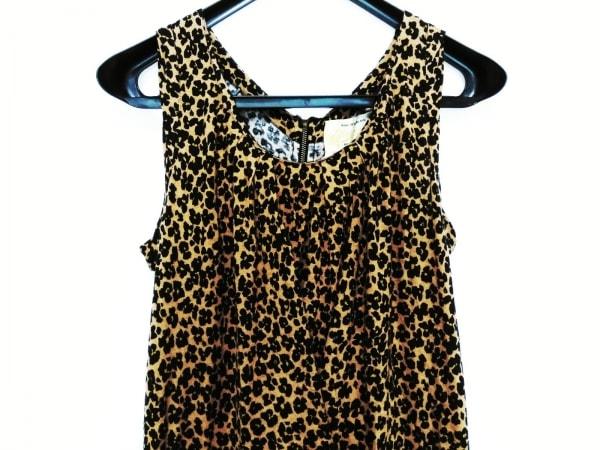 MUVEIL(ミュベール) ワンピース レディース 黒×ブラウン 豹柄