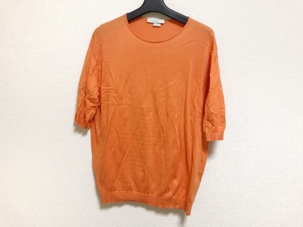 JOHN SMEDLEY(ジョンスメドレー) 七分袖セーター サイズM レディース美品  オレンジ