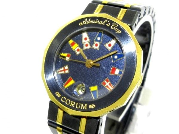 CORUM(コルム) 腕時計 アドミラルズカップ 39.610.31 V052 レディース ダークネイビー