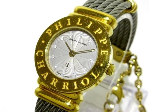 フィリップシャリオール 腕時計 サントロペ 7007901 レディース ライトグレー