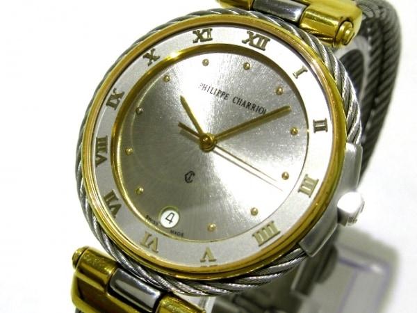 フィリップシャリオール 腕時計 アレキサンダー - メンズ シルバー