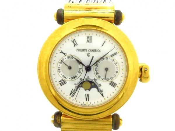 フィリップシャリオール 腕時計 クリストファー・コロンブス - メンズ 白×アイボリー