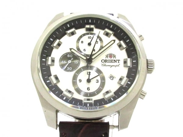ORIENT(オリエント) 腕時計美品  - TT0U-C0-B メンズ シルバー×黒