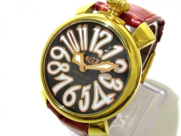 GAGA MILANO(ガガミラノ) 腕時計 マヌアーレ40 - メンズ 黒