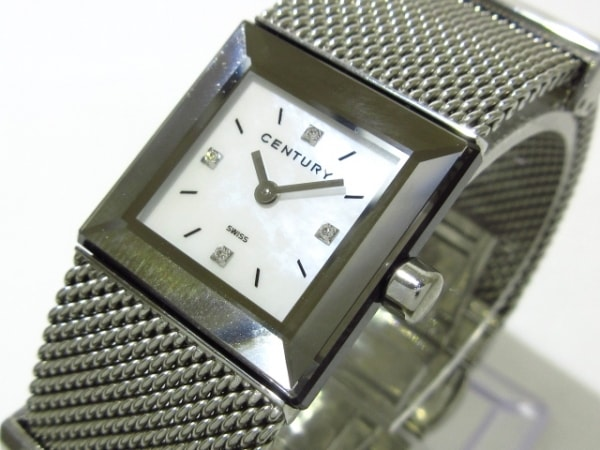 CENTURY(センチュリー) 腕時計美品  タイムジェム - レディース シェルホワイト