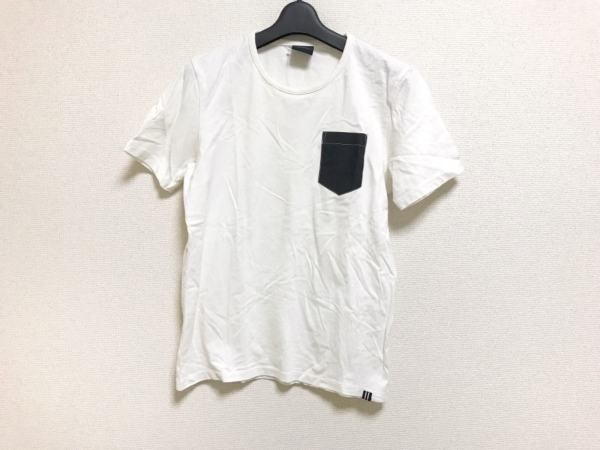 KENT&CURWEN(ケント&カーウェン) 半袖Tシャツ サイズM メンズ 白×黒