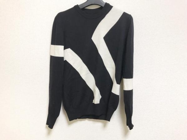 KENT&CURWEN(ケント&カーウェン) 長袖セーター サイズS メンズ 黒×アイボリー