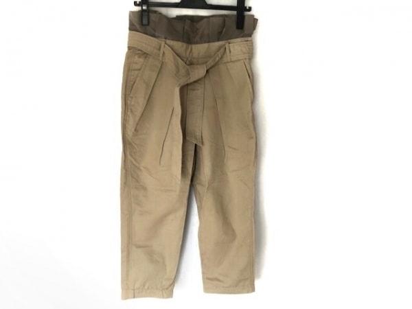 ahcahcum(アチャチュム) パンツ サイズ36 S レディース ベージュ×グレー フリル