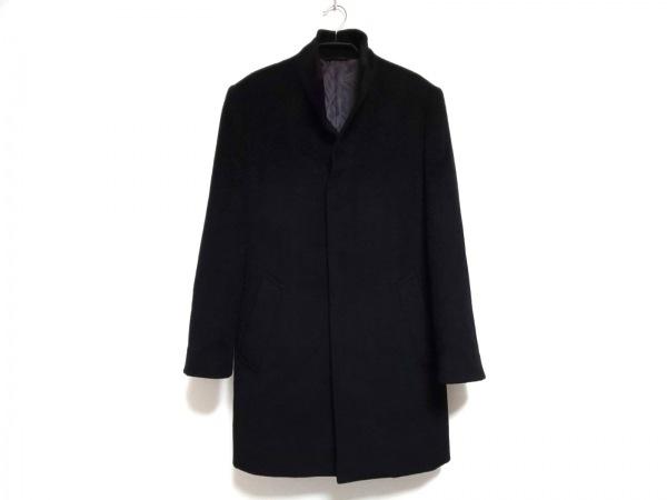 COMME CA MEN(コムサメン) コート サイズS メンズ 黒 肩パッド/冬物