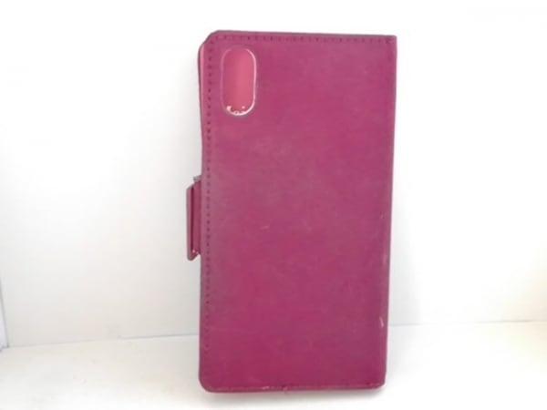 メゾンドフルール 携帯電話ケース ボルドー iPhoneX/XS/リボン サテン×合皮
