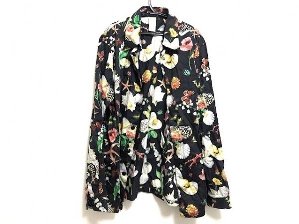 ジャンニヴェルサーチ 長袖シャツブラウス サイズ44 L レディース 黒×マルチ 花柄