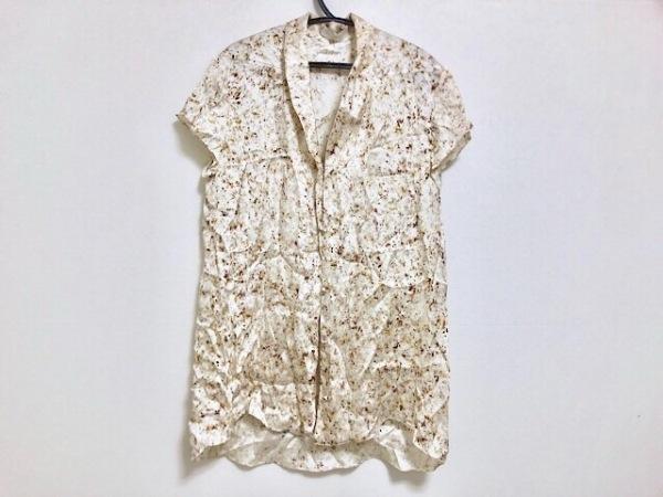 ニナリッチ 半袖シャツブラウス サイズ36 S レディース美品  白×マルチ シルク/花柄