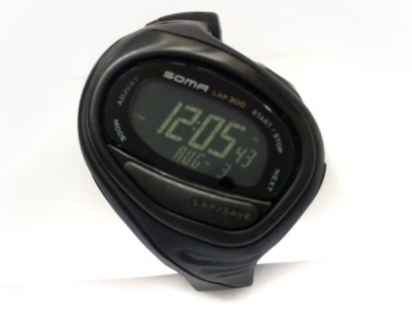 SOMA(ソーマ) 腕時計 WJ02-4000 ボーイズ 黒