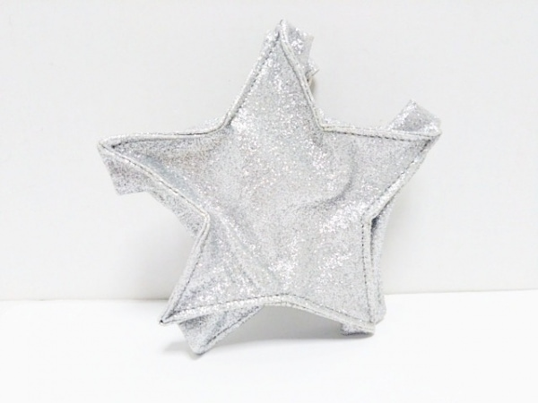 MUVEIL(ミュベール) コインケース ライトグレー スター 化学繊維