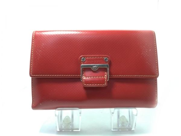 BRAUN BUFFEL(ブラウン ビュッフェル) Wホック財布 レッド 型押し加工/チェック柄