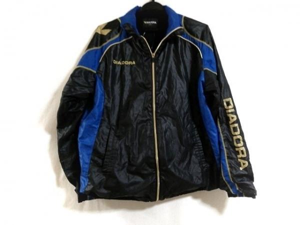 DIADORA(ディアドラ) コート サイズ0 XS メンズ 黒×ブルー×ゴールド 冬物
